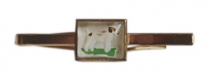 Art Deco Terrier Dog Tie Clip