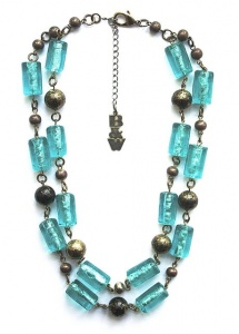 Blue Art Glass Necklace by Butler & Wilson