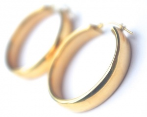 Classic 14K Gold Hoop Earrings by EternaGold, 3.5g