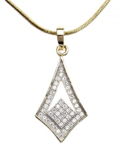 Modern Vintage Style Gold Plated Crystal Pendant