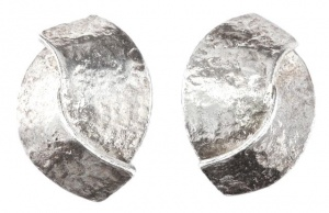 Silver Plated Delphine Nardin Paris Vintage Earrings