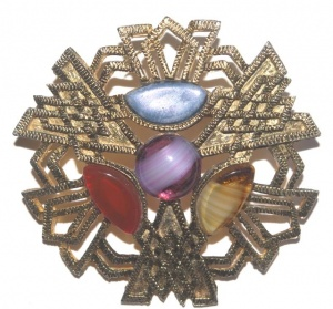 Vintage Celtic Style Brooch by Hollywood