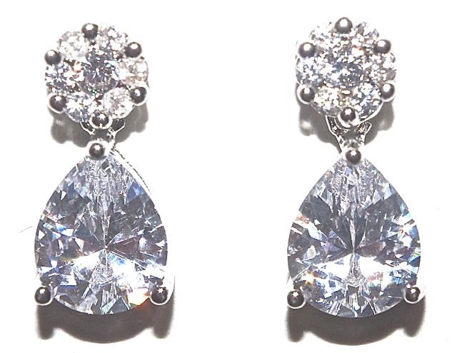 style clear stunning crystal dp dangle drop earrings diamante