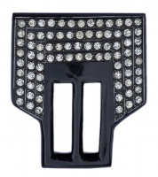 Art Deco Black Celluloid & Diamanté Belt Buckle