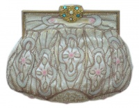 Art Deco Pastel Beaded Bag