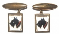 Art Deco Scottie Dog Cufflinks