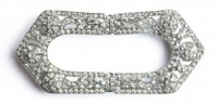 Art Deco Silver Tone and Diamante Buckle