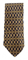 Tie Rack Luca Franzini Pure Silk Tie with a Gold Repeat Print