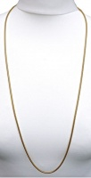 Vintage Long Gold Tone Snake Chain
