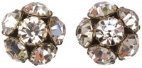 Vintage Diamante Clip On Earrings, circa 1950s