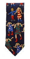 Tie Rack Kids United Italian Pure Silk Tie with a Children Print