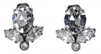Vintage Classic Diamante Clip On Earrings, circa 1950s