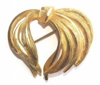 Vintage Classic Gold Plated Brooch by Sphinx