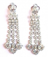 Vintage Diamante Drop Cocktail Earrings