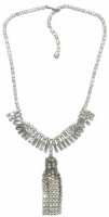 Vintage Diamante Tassel Necklace