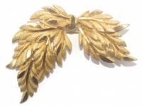 Vintage Gold Plated Bow Brooch
