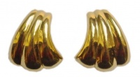 Vintage Gold Tone Clip-on Earrings by Grossé