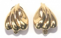 Vintage Gold Tone Earrings by Monet