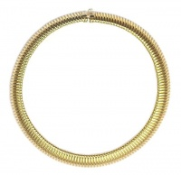 Vintage Gold Tone Flexible Snake Chain Collar by Marks & Spencer