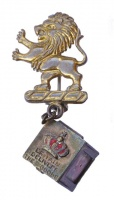 Walter Lampl 1940s WWII Lion Union Jack Brooch