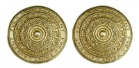 Yves Saint Laurent 1980s Gold Tone Large Round Earrings