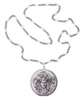 Pierre Bex Art Nouveau style Silver Plated Lady Locket