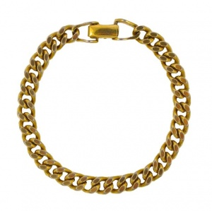 1970s Avon Gold Plated Classic Style Wristchain Bracelet