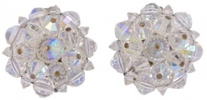 Vintage Laguna Aurora Borealis Crystal Cluster Earrings