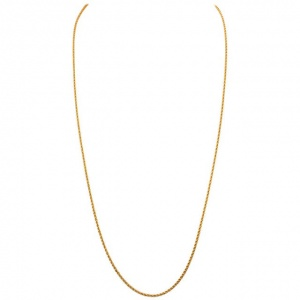 Vintage Long 14K Gold 30 inch Rope Twist Chain Necklace