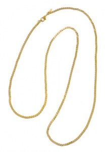 1980s Monet Gold Plated Long Link Chain Necklace