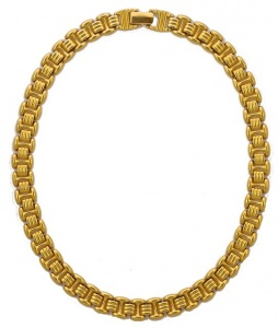 1980s Napier Gold Plated Ridged Link Chain Necklace
