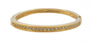 Roman Gold Plated Clear Diamante Bangle circa 1980s