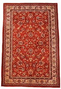Royal Khan Multi Red and Cream Traditional Persian Style Wool Rug