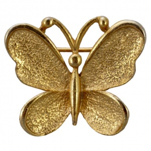 Sarah Coventry Gold Plated Gypsy Butterfly Brooch 1970s