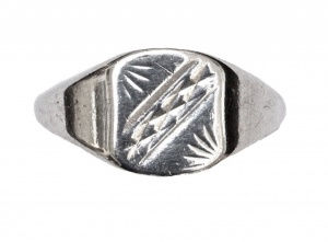 1970s Sterling Silver Engraved Ring