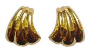 Grosse Gold Tone Clip-on Earrings circa 1980s