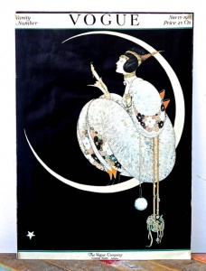Vogue 1917 Moon and Lady Poster circa late 20th Century