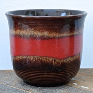 Bay Keramik West Germany Pottery Brown Red Planter