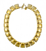 Anne Klein Gold Plated Satin Link Necklace circa 1980s