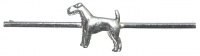 Art Deco Silver Tone Terrier Brooch