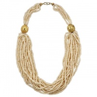 Berber Gold Plated Multi Strand Freshwater Pearl Necklace