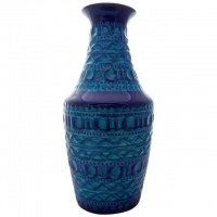 Bay Keramik Pottery Blue and Turquoise Vase, circa 1970s