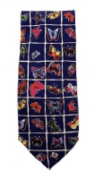 US National Wildlife Federation Pure SIlk Tie with a Butterfly Print
