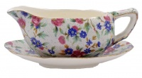 Vintage Royal Winton Grimwades Old Cottage Chintz Sauce Boat