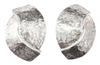 Delphine Nardin Paris Silver Plated Clip On Earrings, 1980s