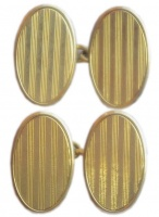 1920s Art Deco 15ct Gold Cufflinks