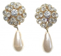 Thomas Sabo Vintage Gold Tone and Faux Pearl Earrings