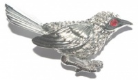 Vintage Silver Tone Bird Brooch by Sarah Coventry