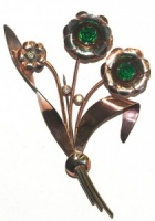 Vintage Sterling Flower Brooch by  Bond Boyd