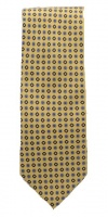Tie Rack Yellow Pure Silk Tie with a Geometric Repeat Print